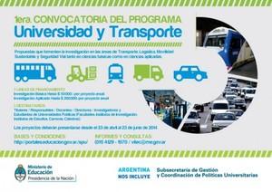 Primera Convocatoria Universidad y Transporte